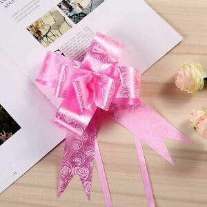 50 Pull Bows 30mm Wedding Car Gift Wrap Ribbon Florist WATERPROOF Decorations UK