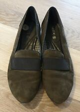 GEOX Ladies Olive Green Flats, Size 7 Uk