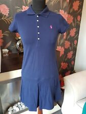 Ladies Large Navy  Polo Dress By Ralph Lauren Polo UK 12 - 14  NEW FREE UK PP