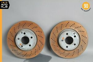 08-17 Mercedes W212 E400 C300 Front Brake Rotors Disc Left and Right Set OEM