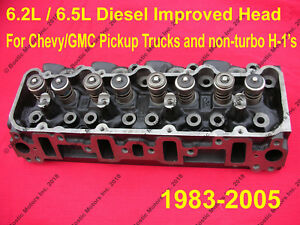 6.5 / 6.2 Diesel Cylinder Head NEW / IMPROVED CASTINGS Chevy GMC 2500 3500