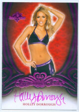 "HOLLY DORROUGH ""PINK RED BACK AUTOGRAPH CARD"" BENCHWARMER SIGNATURE SERIES 2015"