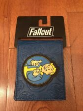 Fallout Vault Boy Blue Bifold Leather Wallet Men New Collectible