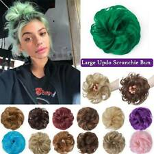 Curly Messy Bun Hair Piece Scrunchie 100% Natural Hair Extensions Real Soft Hair