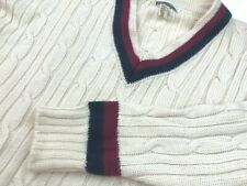Cable Car Clothiers Robert Kirk 100% WOOL Knit Sweater V Neck Mens Sz 42 UK 102