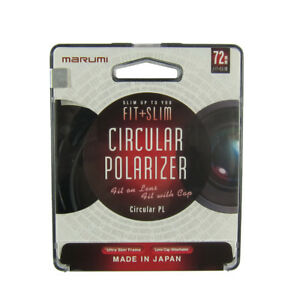 Marumi Fit + Slim Camera Lens Filter 72mm : CPL Circular Polarizer PL Japan