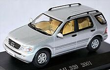 Mercedes Benz Classe M ML 320 W163 Facelift 2001-05 Argent Métallique 1:43
