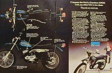 HARLEY-DAVIDSON SX-175 2 Page Motorcycle Ad 1976 SX 175