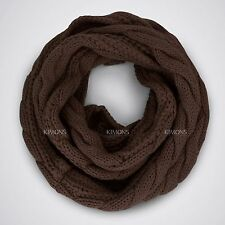 AW Oversize Cable Knit Women Winter Infinity Scarf Circle Long Shawl Wrap Thick