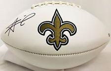New Orleans Saints Alvin Kamara Signed Logo Football - Auto Beckett BAS
