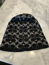 Coach Logo Wool Hat Black Great Condition!