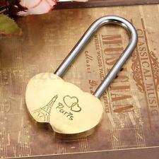 Heart Eternal Love Lock Personalised Engraved Padlock Valentine Anniversary Gift