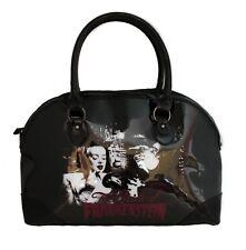 Rock Rebel Black Vegan Vinyl Bride Of Frankenstein Purse Handbag