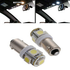 2x For Interior Front Dome Map Reading LED Xenon LED 5-SMD T11 BA9S White Bulb