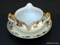 AUTUMN by HAVILAND LIMOGES ~ FRANCE ~ Gravy Boat with Attached Under Plate
