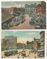 Lot of 2! Market Square in HARRISBURG PA Vintage Dauphin Pennsylvania Postcards