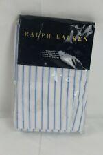 RALPH LAUREN Meadow Lane Brennan Cotton Stripe STANDARD Pillowcases White/Blue
