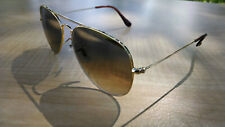 Womens Ray-Ban Aviator RB3025 001/51 55 Gold Frame & Light Brown Lens Authentic