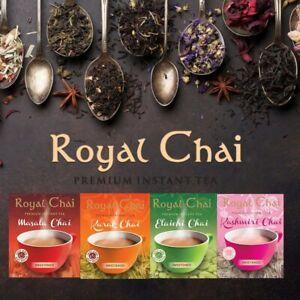 New Royal Chai Instant Tea Masala/Karak/Elaichi/Ginger (Sweet/Unsweet) FAST DELI