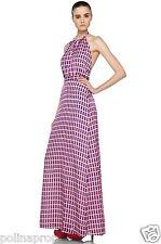 BNWT Issa London Maxi Halter Silk Chiffon print dress gown US 4 UK 8 $700