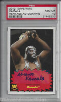2012 TOPPS WWE HERITAGE AUTOGRAPHS KAMALA AUTO CARD PSA 10 GEM MINT