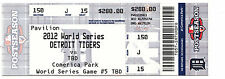 2012 TIGERS VS GIANTS WORLD SERIES GAME #5 TICKET STUB GIANTS WIN WS 4-0