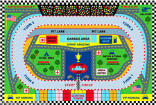 "4'3""x6'6"" Sport Car  Rug Speedway Track Race Nascar Lane Road Map USA Ralley 5x7"