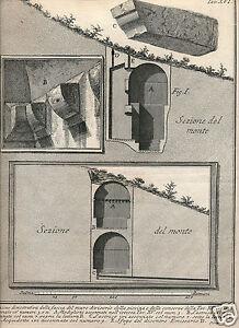 Piranesi 1764 etching reservoir Antichita d'Albano e Castel Gandolfo Rome Italy