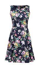 a2ff6f0e08c37 Size 16 Joe Browns Navy Blue Floral Jacquard Skater Summer Dress