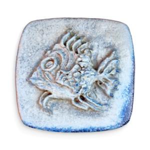 Heiner Balzar – HUGE Blue Stoneware Fish Wall Plaque – 1950s Swedish Ceramic