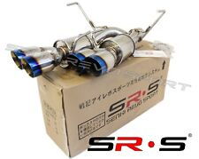 "SRS AXLEBACK QUAD TIP EXHAUST W/ BURNT 3.5"" TIPS W/ MUFFLER FOR 2015+ WRX STI"