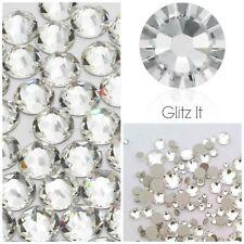 Swarovski 100 x ss12 CLEAR GLUE ON Crystals Diamantes Rhinestones Flatbacks