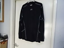 MENS UNDER ARMOUR COMPRESSION JERSEY LONG SLEEVE BLACK T-SHIRT SIZE XL