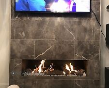 Frameless Open Fronted S10 Gas Fire 5 Year Warranty Full Remote Control