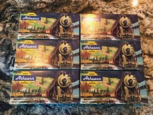 """Athearn 7.5"""" Empty Boxes - LOT of 6 Used Boxes - Good Condition"""