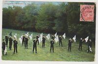 Hampshire postcard - Queens Edinburghs Royal Volunteers at Aldershot - P/U (A392