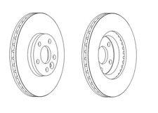 2x Brand New Ferodo Front Brake Disc - DDF1567C - 12 Month Warranty!