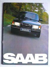 Prospekt Saab 900 GL/GLs/GLi/GLE/Turbo Modelle 1982, 1981, 40 Seiten
