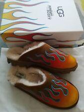 UGG Australia & Jeremy Scott Ltd Ed Fiamma Motivo Pelle Di Pecora Pantofole 6.5 UK Natale