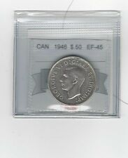 **1946**Coin Mart Graded Canadian Silver 50 Cent **EF-45**
