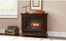Small Portable Electric Fireplace ~ Space Saver w/Wheels ~ 5 Temps ~ Assembled
