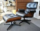 Eames Style Chair With Ottoman Bent Stained Birch