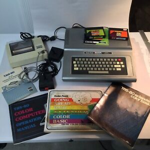 Radio Shack TRS-80 Tandy Color Computer 1 CoCo 26-3004A , Thermal Printer & More