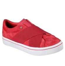 Skechers Hi Lite Street Crossers Red Suede Sneakers Women's 9.5 Memory Foam New