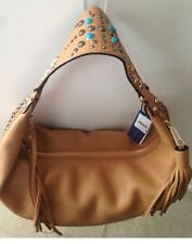 REBECCA MINKOFF Bailey Hobo in Tan Brown LEATHER, Beads Studs Stars H52BR309