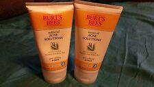 2  Burt's Bees Natural Acne Solutions Pore Refining Scrub 4 Ounces 4 oz SEALED
