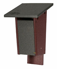 """Sparrow Resistant BLUEBIRD HOUSE Amish built Weatherproof Polywood  8""""w x 14""""h"""