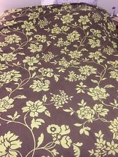King Duvet Cover, Brown With Green Foliage, By Nobility, 100% Cotton, Small Rip
