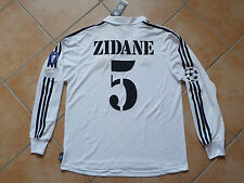 Real madrid camiseta UCL final 2002 Glasgow Jersey zidane 5 Soccer camiseta + logotipos XL