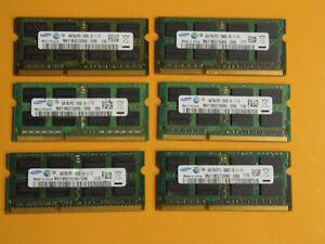 (6) SAMSUNG 2Rx8 PC3-10600S Laptop Memory Ram Lot Free Shipping